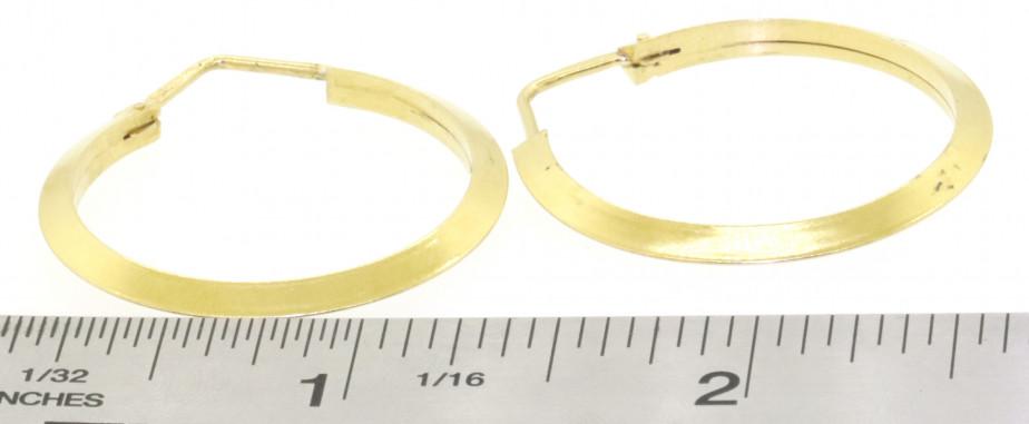Vintage 18K Yellow Gold Elegant High Fashion 31.1mm Hoop